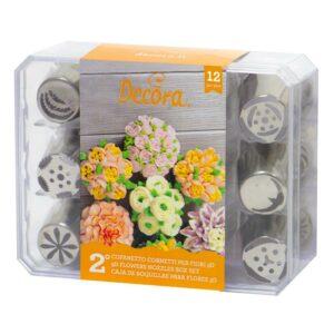 Tüllenset Blumen Mix, 12-teilig