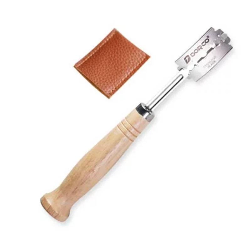 Holz-Bäckermesser mit austauschbarer Klinge