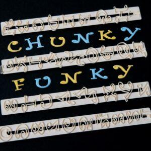 Ausstecher Set Alphabet & Zahlen, Chunky Funky 01