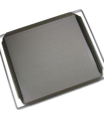 Backblech mit Lochung, verstellbar, ca. 40 cm x 35 cm