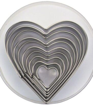Ausstecher-Set Herzen, 10-teilig