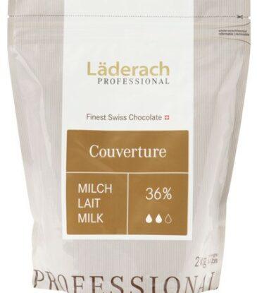 Läderach Kuvertüre Milch 36%, 2 kg