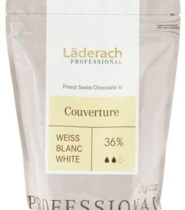 Läderach Kuvertüre Weiss 36%, 2 kg