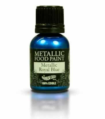 Lebensmittelfarbe flüssig, Metallic Blau, 25 ml