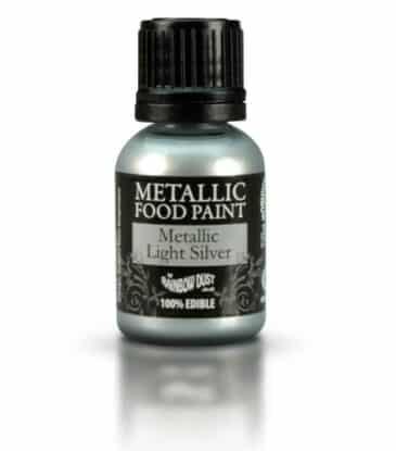Lebensmittelfarbe flüssig, Metallic Silber, 25 ml