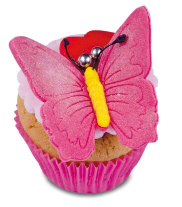 Ausstecher-Set mit Auswerfer Schmetterling, 3-teilig