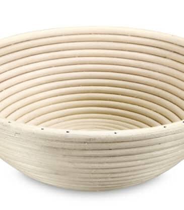 Gärkorb aus Peddigrohr, rund, Ø 23.5 cm